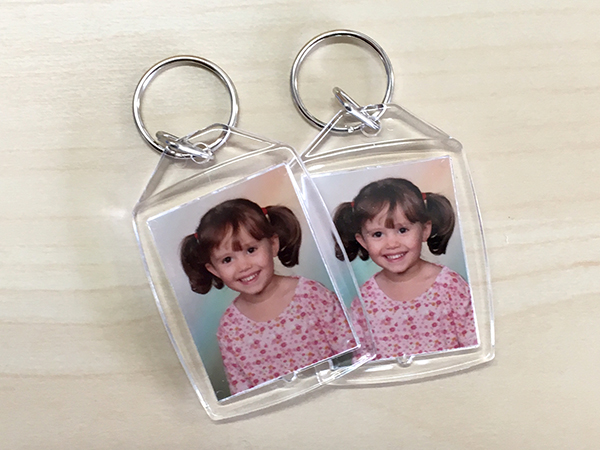 Key rings with pictures